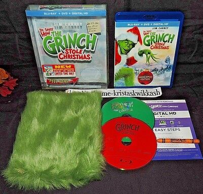 Grinch Fur (Dr. Seuss How The Grinch Stole Christmas-Deluxe Edition(Blu-Ray+DVD+HD)Fur)