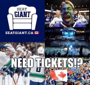 VANCOUVER CANUCKS TICKETS FROM $33 CAD!!
