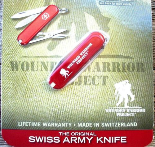 Victorinox CLASSIC SD Red Wounded Warrior Project Original Swiss Army Knife NEW