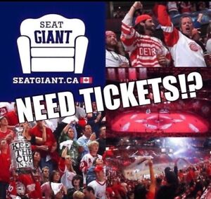 DETROIT RED WINGS TICKETS FROM $10 CAD!