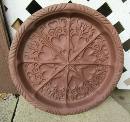 HARTSTONE POTTERY Large Brown Hearts Design Shortbread Cookie mold