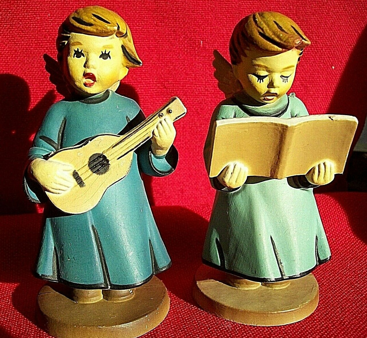 musical angel figurines non-breakable EUC
