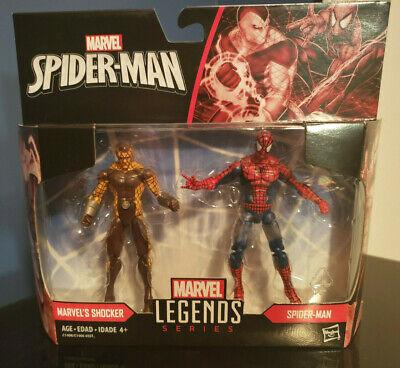 """Hasbro Marvel Legends Series SPIDER-MAN & SHOCKER 3.75"""" fig 2-pack SHIPS FREE"""