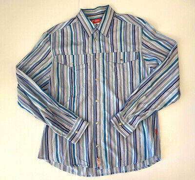 VERSACE jeans Long sleeve mens button down western snap shirt XXXL XL