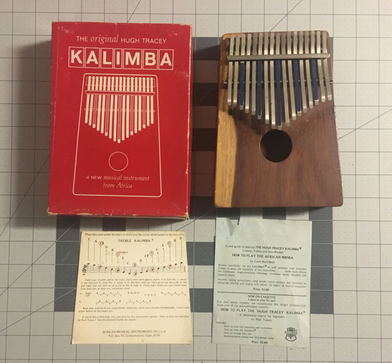Vintage Hugh Tracey Kalimba in Box With Notes And Instruction Guide *READ*
