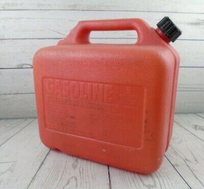 Vintage Stancan Plastic Vented 5 Gallon Gas Can Gasoline Container Made In Usa