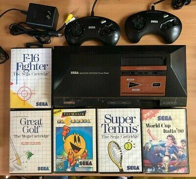 Sega Master System + 5 games + 2 built-in games ** COMPLETE **