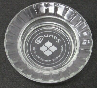 Vintage Dunes Country Club Hotel Casino Glass Advertising Ashtray Las Vegas NV