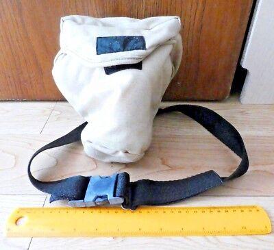 Kamera Tasche Geldbörse (Kamera Gürteltasche / Geldbörse Weich Segeltuch Vintage Sand Khaki für d3200)