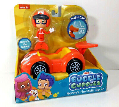 NEW Nick Jr BUBBLE GUPPIES Action FIGURE & VEHICLE Racer Fin-tastic NONNY Toy ()
