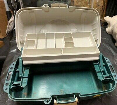 Plano Plastic One Shelf Tackle Box Organizer divided shelf for sale  Shipping to India