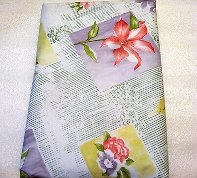 Floral Provence Vinyl Tablecloth Soft-soap Backed  52 x 70 Lilly Flower Kitchen