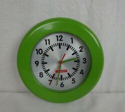 Olive Green Wall Clock ~ Capsule by Typhoon Stainless Steel Body ~ EUC