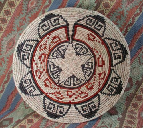 Southwestern Style Basket  Large Deep Basket  Wall or Table Top  over 13 inches
