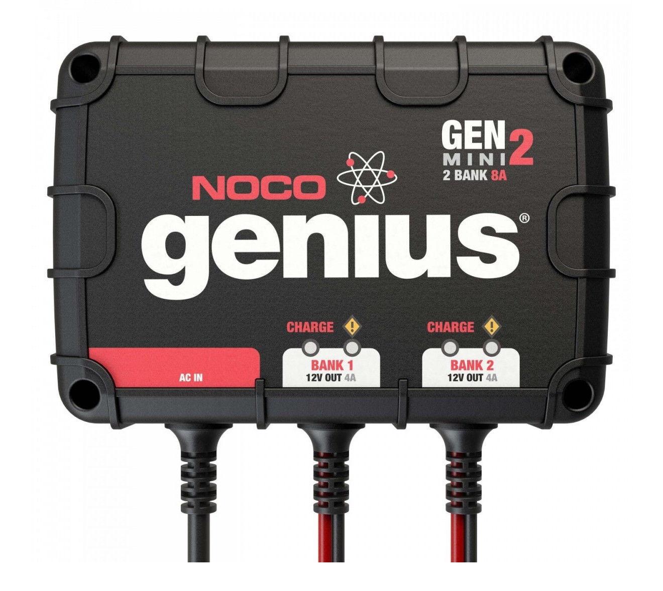 Noco Genius GENM2 8 Amp Marine 2-Bank Waterproof Smart On-Bo