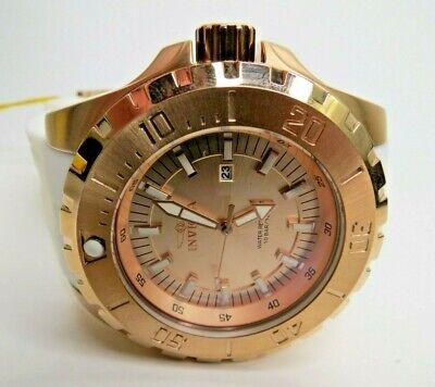 Invicta Pro Diver Quartz Watch Men's Rose Gold White 23741 52mm