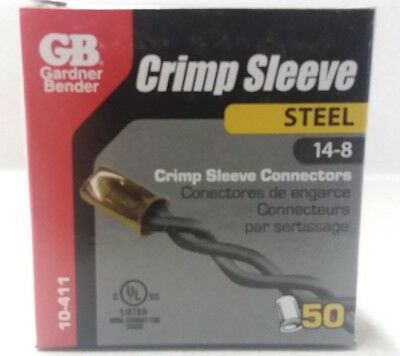 Gardner Bender 10-411 Crimp Connector Steel 14-8 Awg