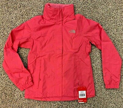 The North Face women's Resolve 2 pink Rain Jacket size Small