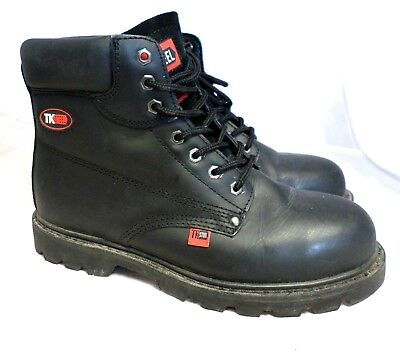 TK Steel Goodyear Welted Black Boot Size 9 Uk CR083 FF 01