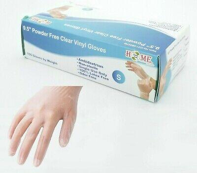 Disposable Powder Free Clear Vinyl Gloves Ambidextrous, Non-Sterile,100 pcs
