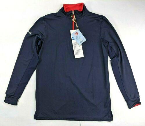 Kastel Denmark Youth 1/4 Zip L Dark Blue Long Sleeve UV Equestrian Sun Shirt NWT