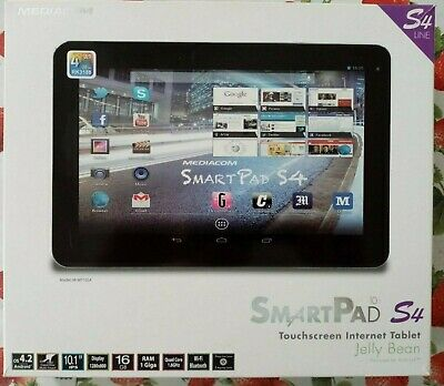 "TABLET MEDIACOM S4 10.1"" 1280 X 800 IPS WIFI 2 GB RAM DDR3 16 GB ANDROID"