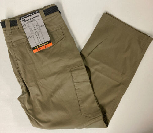 BC Clothing Men's Convertible Cargo Pants Stretch Relaxed XX