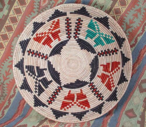 Southwestern Style Basket   Colorful Butterfly Theme Basket    over 13 inches