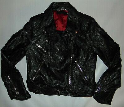 Michael Jackson Clothing Style (MICHAEL JACKSON STYLE Faux LEATHER JACKET Zippers MEDIUM SLOBBY'S Allen)