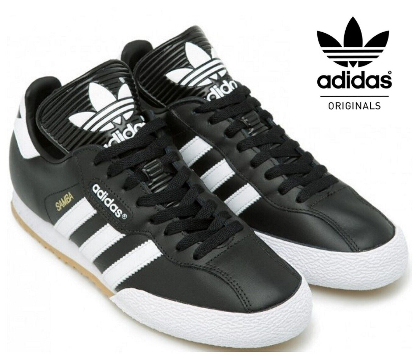 adidas Originals Mens Samba Classic OG Trainers Black.All size.Made in Germany