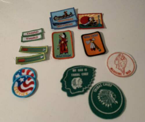 YMCA Patches Lot of 14 Leadership Service Indian Guides/Princesses Cloth & Felt
