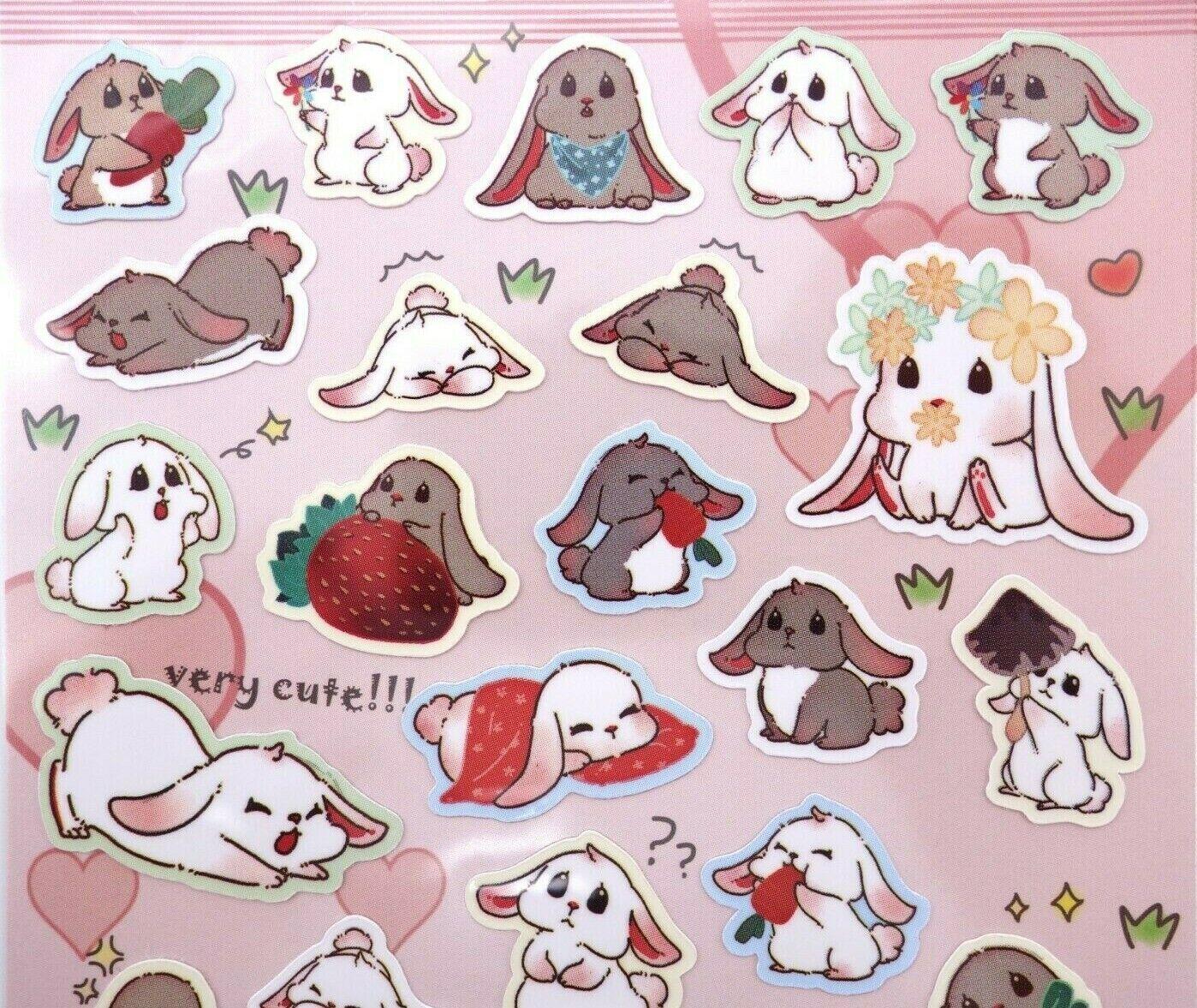 Japanese bunny stickers! Kawaii stickers rabbit pet cute ani