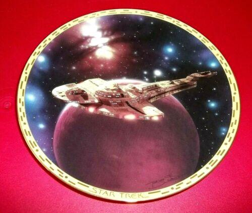 STAR TREK CARDASSIAN GALOR WARSHIP SHIP PLATE W/ STYROFOAM BOX & COA