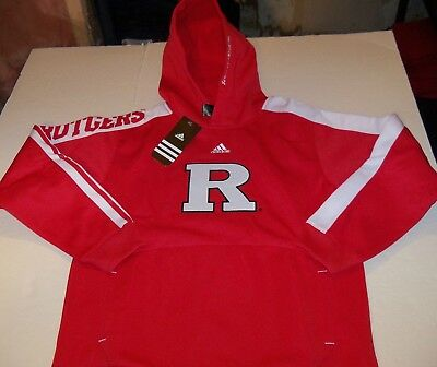 (RUTGERS SCARLET KNIGHTS ADIDAS PULLOVER HOODED SWEATSHIRT YOUTH SIZE L(14-16)NWT)