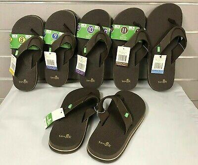 Sanuk Men's BROWN Beer Cozy Flip Flops Sandals NEW Sizes 8, 9, 10, 11, 12, 13  Beer Flip Flops Sandal