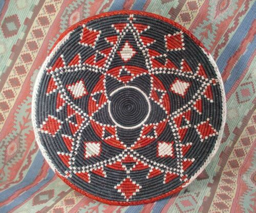 Southwestern Style Basket   Jumbo Size Bowl Basket   Double Star  15 inches