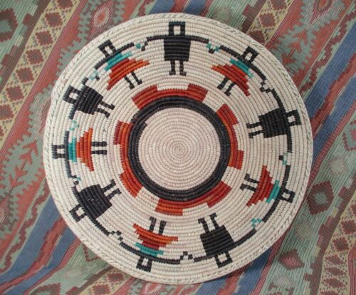 Southwestern Style Basket   Primo Weave on Circle of Friends  approx 14 inches
