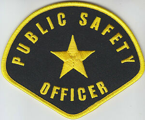 PUBLIC SAFETY OFFICER Gold on Midnight Navy shoulder patch