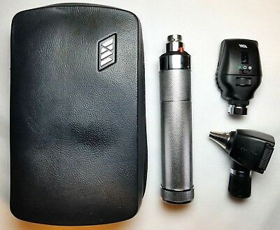 Welch Allyn 3.5v Diagnostic Set W 20000 Otoscope Ophthalmoscope Plugin Handle