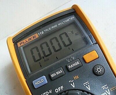 Clean Fluke 116 Trms Digital Meter Test Leads Full Function Hvac Dmm W Leads
