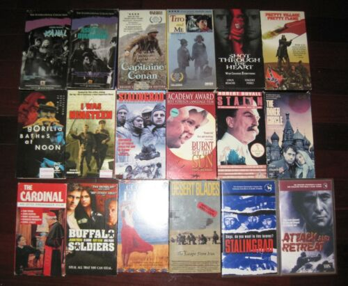 LOT INDEPENDENT FOREIGN FILMS WAR POLITICS TITO STALIN WW2 VHS VIDEO TAPES