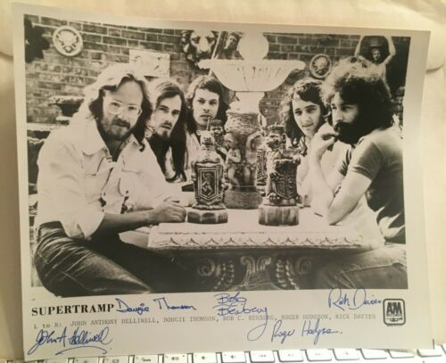 SUPERTRAMP BREAKFAST IN AMERICA A&M PUBLICITY PACKAGE + AUTOGRAPHED 8X10