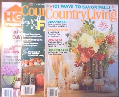Lot Of 3 Country Living Hgtv Magazines October November 2017  14 Value New