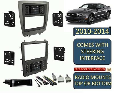 2010-2014 FORD MUSTANG DOUBLE DIN CAR RADIO STEREO DASH KIT TOUCHSCREEN CLIMATE (Ford Mustang Stereo)