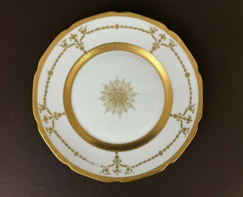 VTG H&Co Heinrich Selb Gold Encrusted Floral Filigree Rim Dinner Plate 10 1/4