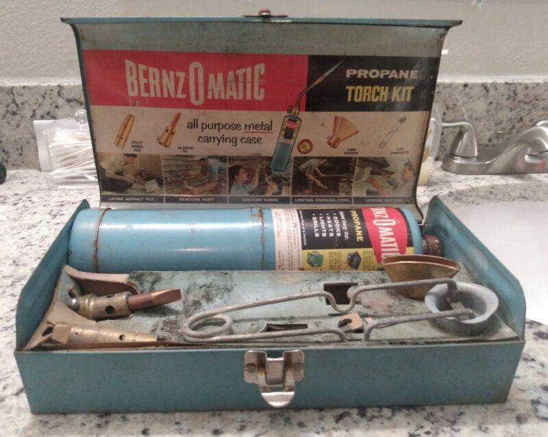Vintage Bernzomatic Propane Torch Kit Model TX Tip TX2009 TX1527
