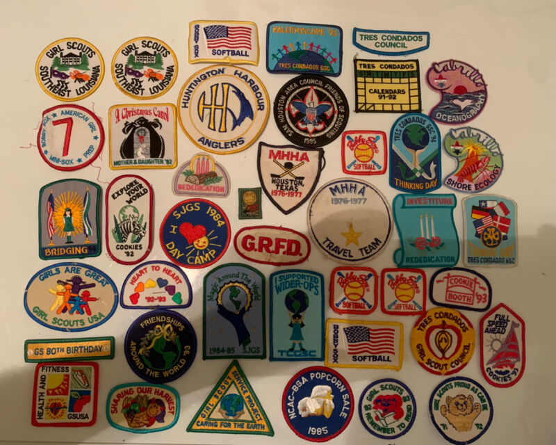 Lot Of 42 Vintage Girl Scout Patches