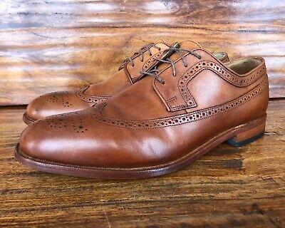 Men's Johnston & Murphy Wingtip Dress Shoes Brown Leather Size 11.5 D