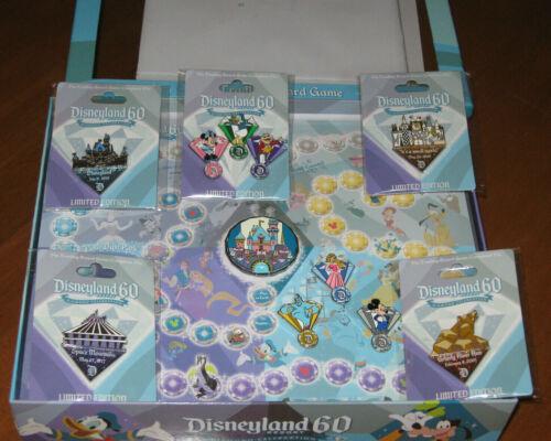 Disney DLR Diamond 60th Anniversary Pin LE Trading Board Game w/ Complete Set