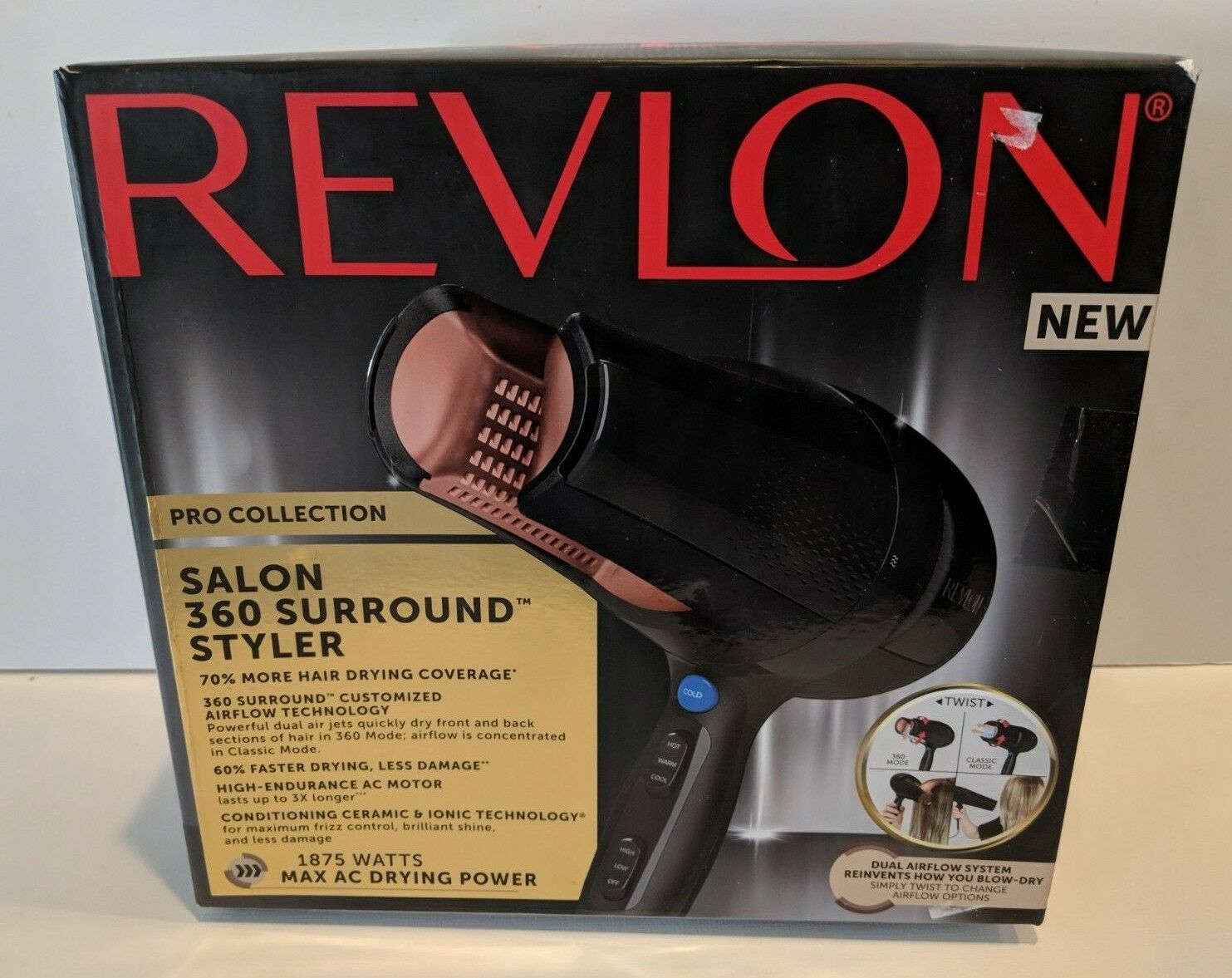New Revlon Pro Salon 360 Surround Hair Dryer and Styler CERA